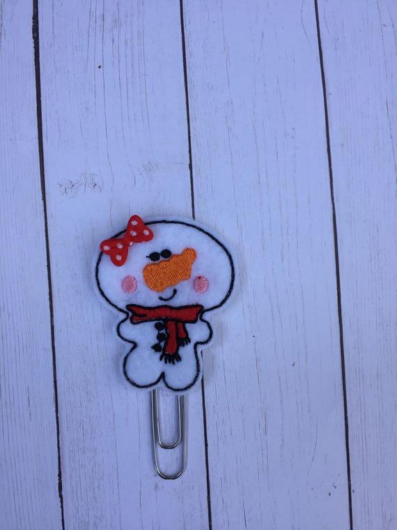 Artsy Snowman Planner Clip/Planner Clip/Bookmark. Snowman Planner Clip. Rose Gold Planner Clip. Holiday planner clip. Christmas planner clip