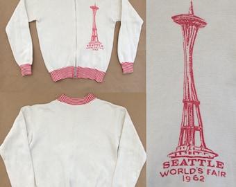 Rare 1962 Seattle World's Fair sweatshirt with zipper!