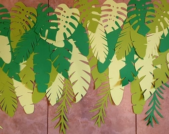 Tropical Leafs  Cut out, Paper Pineapples, Home Decor, Party Decor