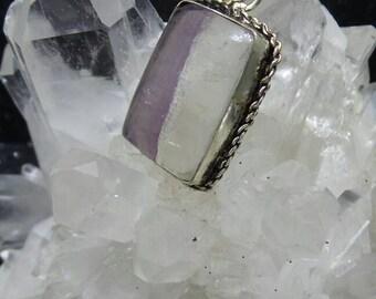 Fluorite Sterling Silver Pendant.