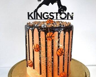 Basketball cake topper / Name cake topper / Personalised cake topper / Personalised basketball cake / Happy birthday