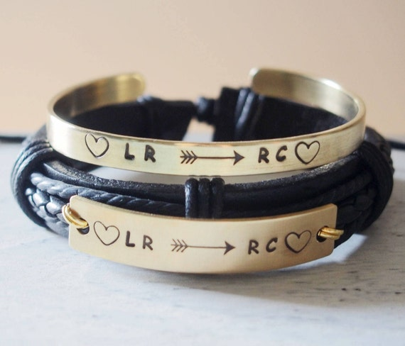 personalized couples bracelets leather custom couples