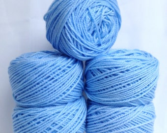 Chunky Yarn Baby Blue Yarn for Quick Knitting, Thick Crochet Yarn Bundle