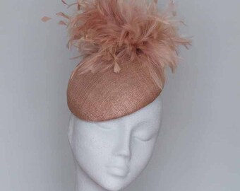 Latte Almond  Fascinator Royal Ascot Hat, Kentucky Derby Hat, Wedding Hat