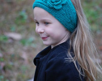 Ear Warmers - Jade - Winter headband - crochet ear warmer - knit headwrap - knit ear warmer - Ear Warmer - Headband - Winter accessory