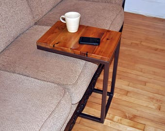 Side Table, Couch Table, Coffee Table, Reclaimed Cedar, Welded Steel, Choose Your Finish Color