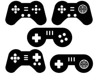 Game Controller SVG, Game Controller Monogram SVG, Game SVG, Video Gamer Svg, Video Game Svg, Gaming Svg, Gamer Svg, Dxf, Commercial Use.