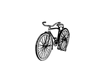Digital SVG PNG Bicycle, Bike, Pedal Bike, Vehicle, Cycling, Vintage Bicycle, Transportation, Clipart, Vector, Silhouette, Instant Download