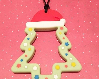 Christmas Cookie Stim Chew Necklace