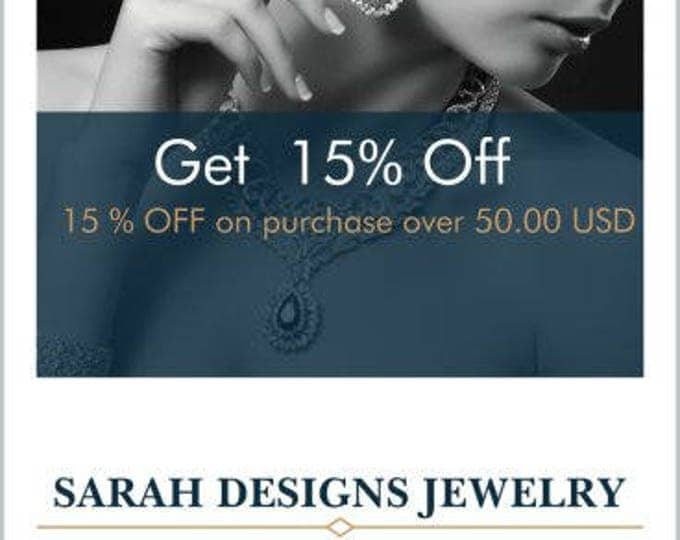 Featured listing image: Spend US50 at SarahDesignsJewelry and get 15% off your order
