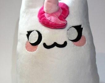 White & Pink Meownicorn Plush