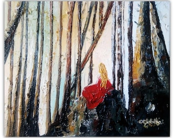 """Oil painting """"The Ruby fairy"""""""