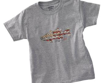 Kid Tee-patriotic sport tee, Kids Tee, Kids Tee Shirt, Kids Fishing Tee, American Theme, Girls Tee Shirts, Boys Tee Shirts, Kids Bass Tee
