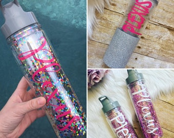 PLEXUS Water Bottle, Plexus Tumbler, Confetti Bottle, Plexus Swag,  Pink Drink, Plexus Slim Ambassador, Sports Bottle, Team Member Gift