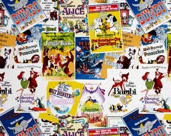 Vintage Animated Posters / custom fabric