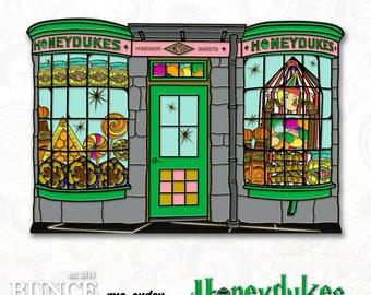 HPinstreet HONEYDUKES soft enamel lapel PIN / Hogsmeade Harry Potter Magic Candy Jelly Beans Pumpkin Hogwarts / BUNCEandBEAN / ships in Sept