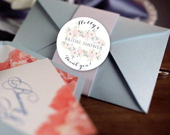 Bridal Shower Stickers, Custom Bridal Shower Labels - Round Bridal Shower labels - Bridal Shower Stickers - Bridal Shower Candy Stickers