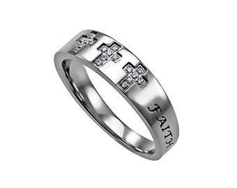 "Calvary Ring ""Faith Hope Love"""