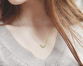 Delicate V Sterling Silver Necklace - Tiny V Shaped Necklaces - Dainty Gold Plated Necklace - Geometric Minimalist Necklace - Tiny Pendant
