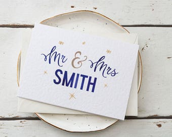 Personalised Wedding Card | Wedding Card Personalized with Any Name | perfect card for the bride and groom