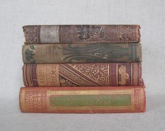 Antique Book Bundle, Decorative Books