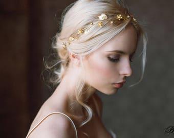 20% OFF-Gold Leaf Headband, Wedding Leaf Headband,Bridal hairpiece, Wedding Headpiece, Leaf Tiara,Rustic Wedding,Leaf Crown,Bridal Hair Vine