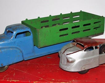 1940s  Wyndotte Trucks Great Display Pieces Inside or Out Truely Retro Deco Decor
