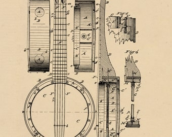 Banjo Patent #262564 dated August 15, 1882.