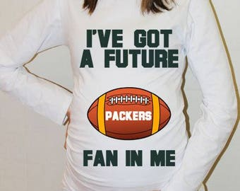 Packers Maternity Shirt Green Bay Packers Baby Future Fan Shirt Baby Boy Baby Girl Green Bay Football Maternity Clothing Baby Shower