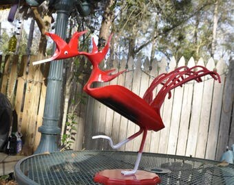 PVC Pipe Gamecock Yard Art Sculpture Bird Mascot
