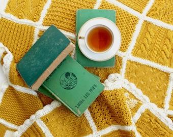 Hand Knit Baby Blanket, Nursery Decor, Gift