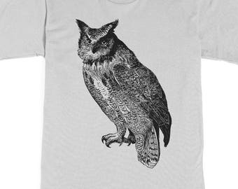 Men's Shirt - Owl T-shirt - Owl Tshirt - graphic tee - animal shirt