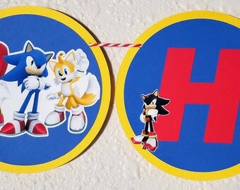 Sonic the Hedgehog Birthday Banner, Sonic, Sonic the Hedgehog Decor, Sonic the Hedgehog Party