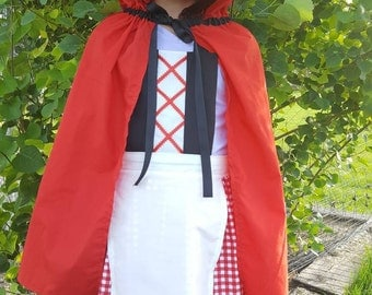 Little Red Riding Hood Costume Dress Up Apron
