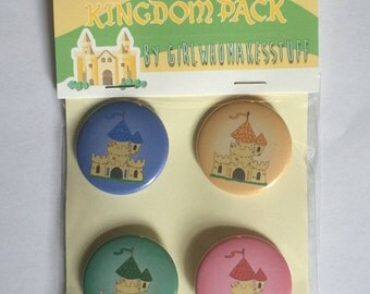 Kingdomino Board Game Kingdom Pack Set of 4 Buttons