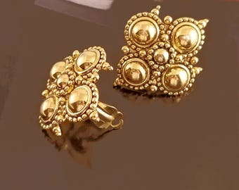 Barrera for Avon Byzantine Earrings, Vntg Avon, Jose Maria Barrera Adriatic Collection