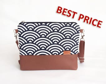 Crossbody bags Purse Cross body bag Hadbags Wave Womens gift Woman birthday gift Blue Bag For women For wife Girlfriend gift