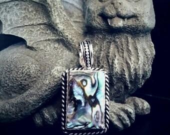 Mesmerizing Mermaid Abalone Shell Pendant Necklace