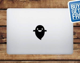 Halloween Ghost - Macbook Apple Decal Sticker / Laptop Decal / Apple Logo Cover / 2 for 1 price