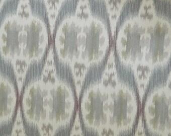 Kravet Ethnic Ikat Purple Grey(32548-11) -Decorative Throw Pillow Lumbar Euro Sham Cover/Southwestern Ikat /Both Sided/Jacquard Woven Fabric