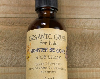 MONSTER BE GONE Aromatherapy Spray | Essential Oils For Kids | Sleep Aid for Children | Nightmare Remedy for Kids | Monster Mist