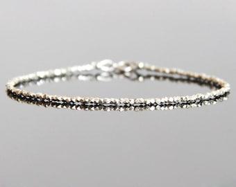 Silver Bead Bracelet - Silver Bracelet, Silver Beaded Bracelet, Silver Stacking Bracelets, Silver Bracelet Women, Silver Jewelry Bracelet
