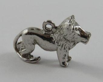 Lion Sterling Silver Vintage Charm For Bracelet