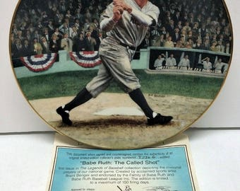 The Legends of Baseball DELPHI Plate Bradex Numbered Babe Ruth The Called Shot Display Plate Baseball