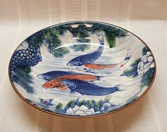 Fish bowl etsy for Koi fish bowl