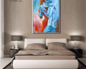 Contemporary Art, Bedroom Wall Art, Figure Art, Art Prints, Artwork, Canvas Art for Bedroom, Bedroom Decor living room decor