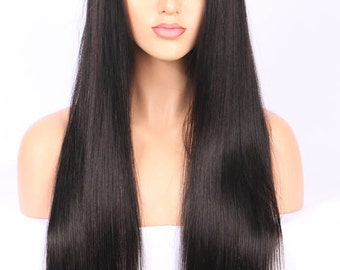 Lace Front Brazilian Hair Wigs- Pre Plucked With Baby Hair- Lace Front Wigs Bleached Knots