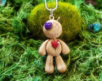 Voodoo Doll / Voodoo Doll Necklace / Voodoo Doll Pendant / Voodoo Doll Jewelry / Unique Christmas Gifts