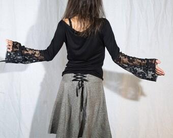 Sila hazelnut laced back Sanlivine cotton skirt
