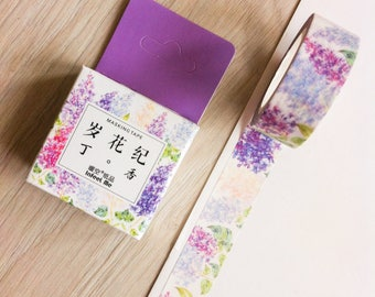 Cute washi tape - violet flowers #2 - infeel me | Cute Stationery
